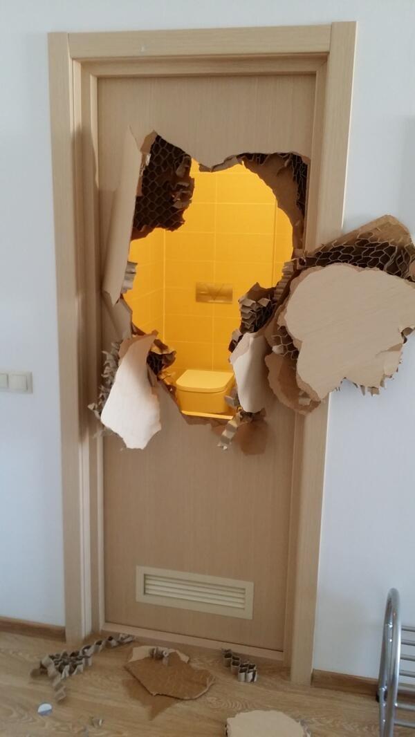 Enfermé dans la salle de bains