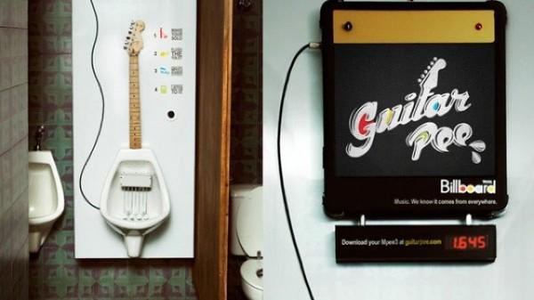 Urinoir guitare