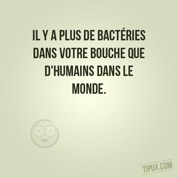 Il y a plus de bactéries dans votre bouche que d'humains dans le monde.