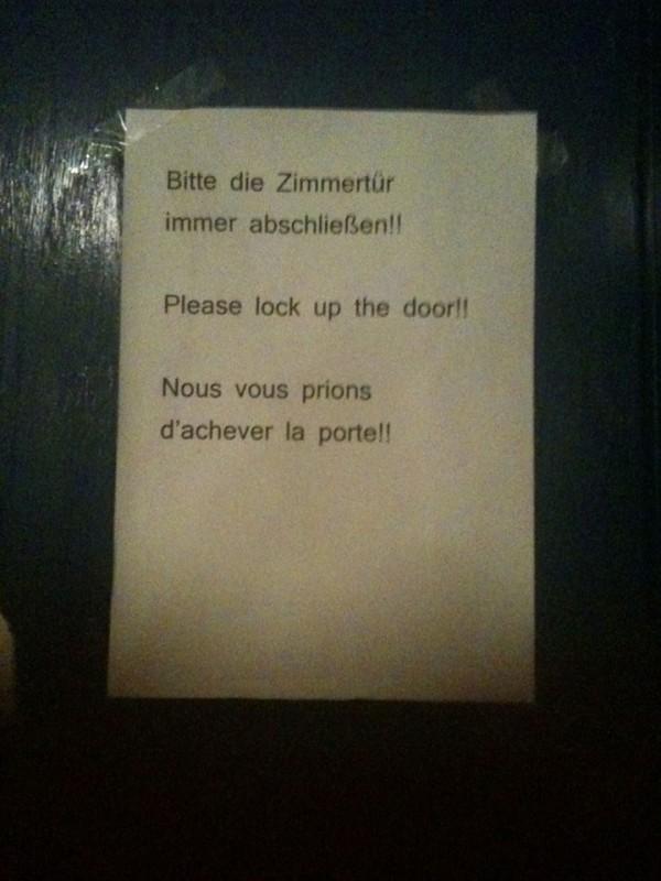 Achever la porte