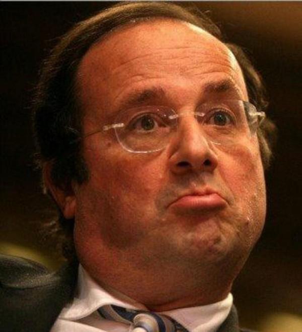 François Hollande est boudeur