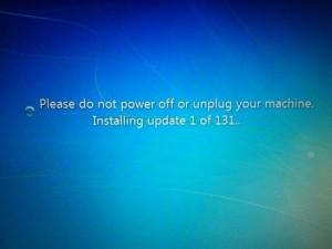 Voter pour Devoir attendre les 131 mises à jour de Windows