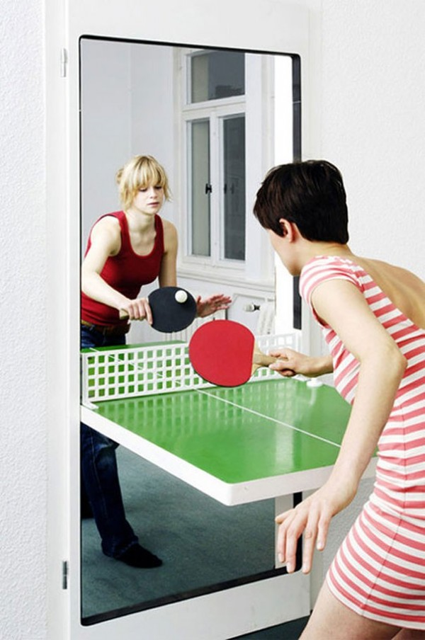 La porte table de ping pong