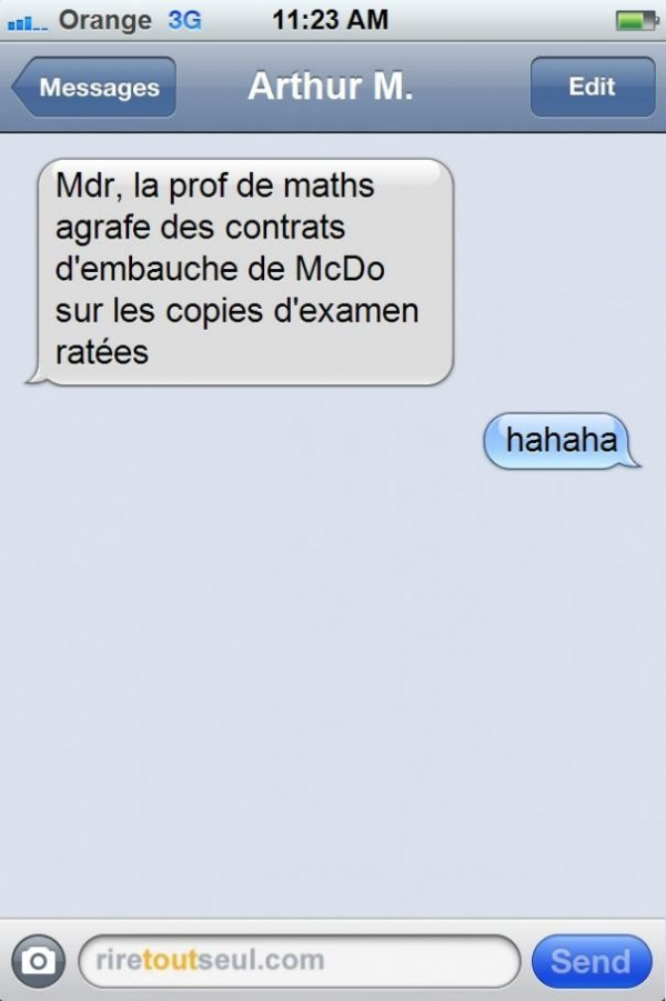 Prof de math originale