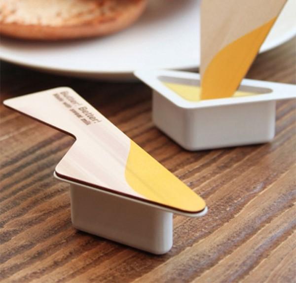 Beurre avec couteau intégré