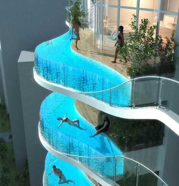 La piscine au balcon
