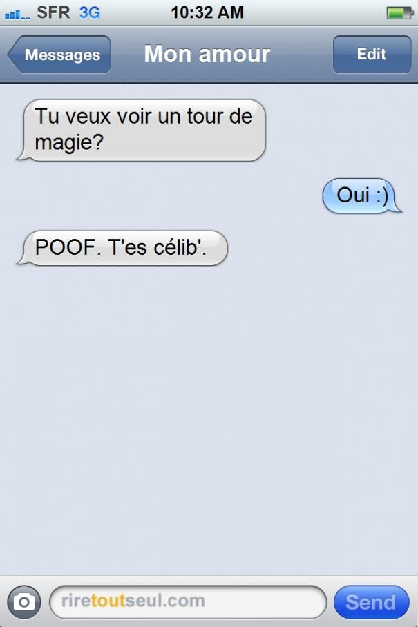 Connu Top 49 : des pires textos et sms BO86