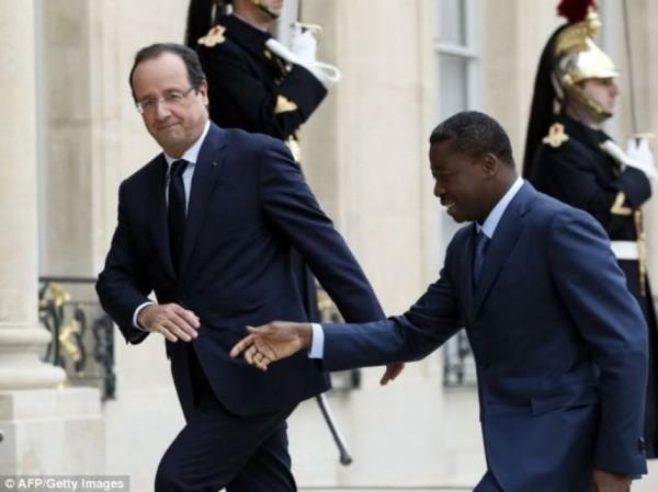 Avec le président togolais