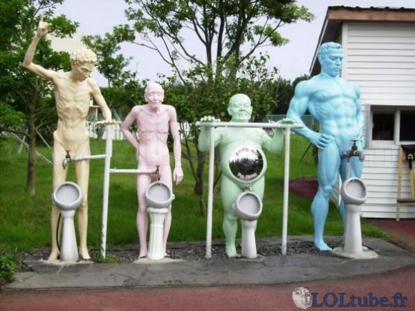 Urinoir en famille