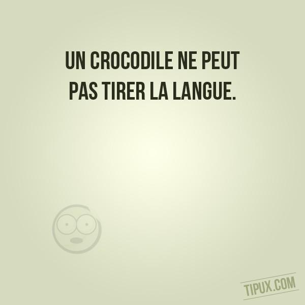 Un crocodile ne peut pas tirer la langue.