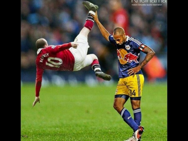 Thierry Henry tacle Wayne Rooney