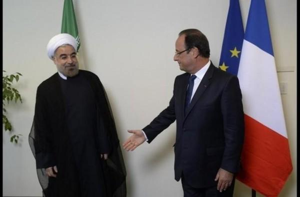 Avec le président iranien