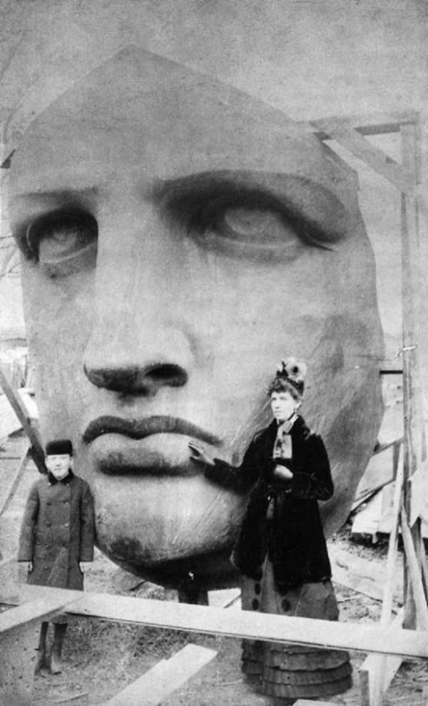 1885 : Arrivée de la tête de la statue de la Liberté aux USA