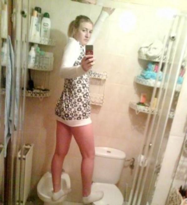 starpoubelle perchée sur les wc