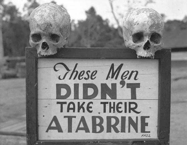 Seconde guerre : Une pub pour l'Atabrine, un médicament anti-malaria en nouvelle Guinée