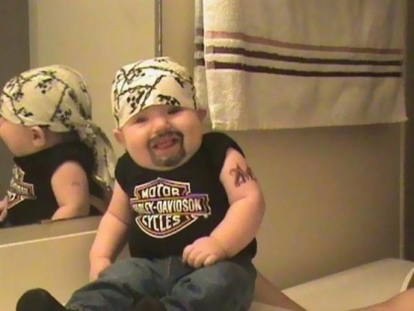Bébé Biker (on en rêve tous... ou pas)