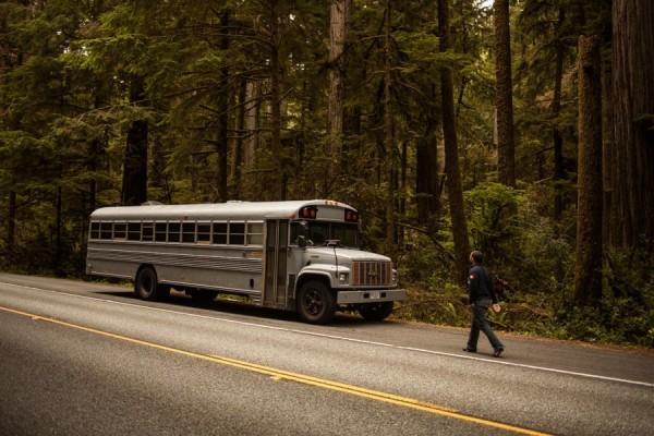 Une maison dans un bus scolaires américain