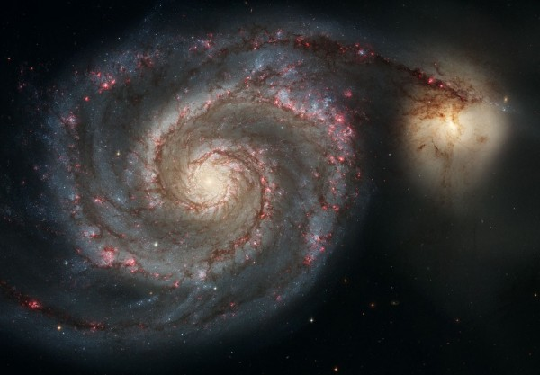 Out of this whirl_ The Whirlpool Galaxy and companion galaxy