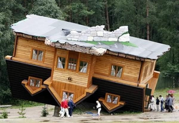 La maison à l'envers