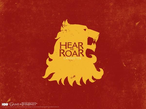 Maison Lannister : Je rugis.