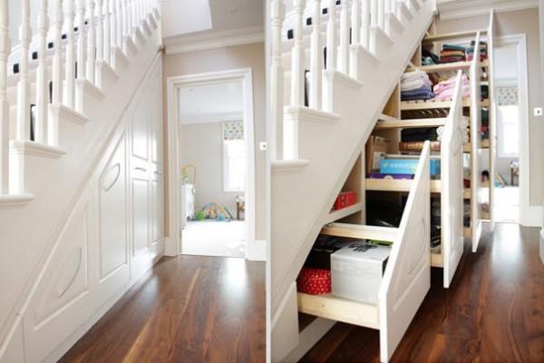 Le stockage sous les escaliers