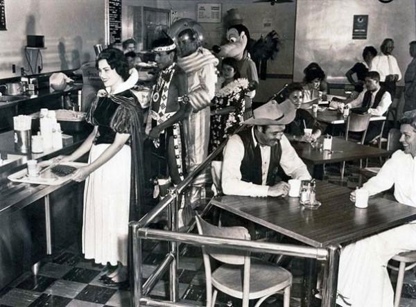 1961 : La cafétéria des employés de Disneyland