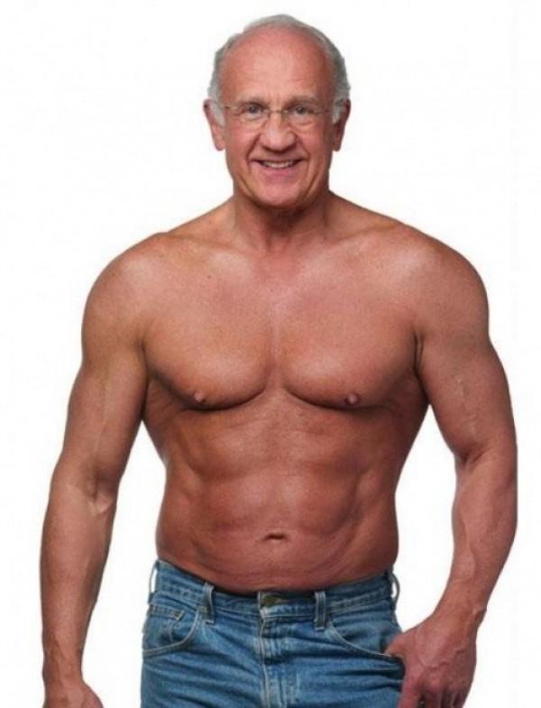 Papy fait du bodybuilding