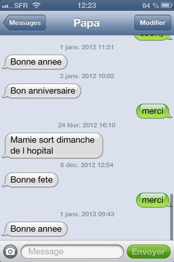 5 SMS en 1 an !