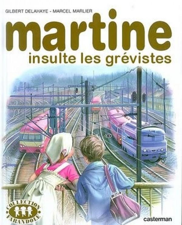 Martine insulte les grèvistes