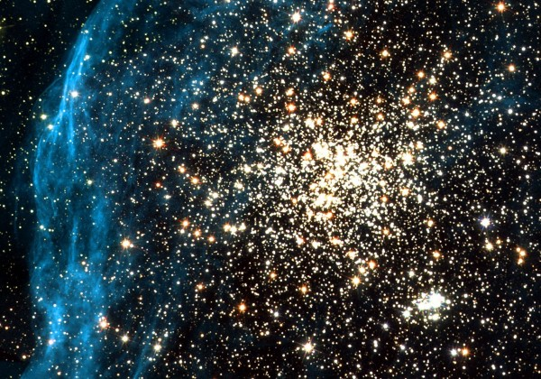 Hubble images remarkable double cluster