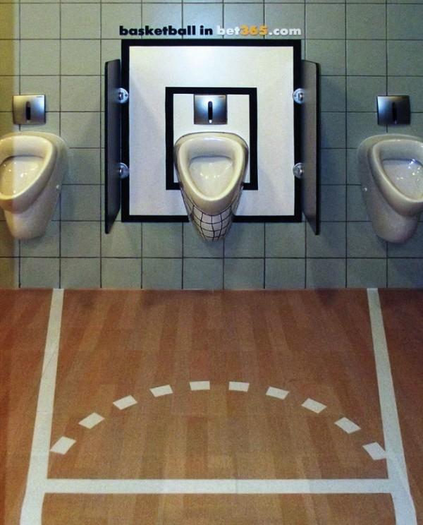Un urinoir basket