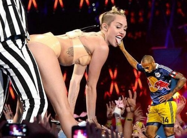 Thierry Henry et Miley Cyrus