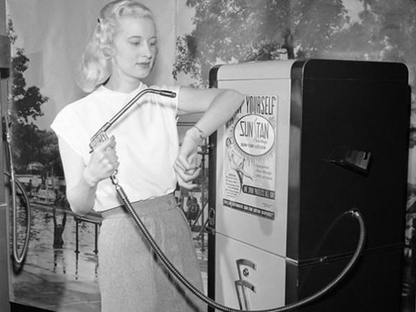 1949 : Un distributeur de protection solaire
