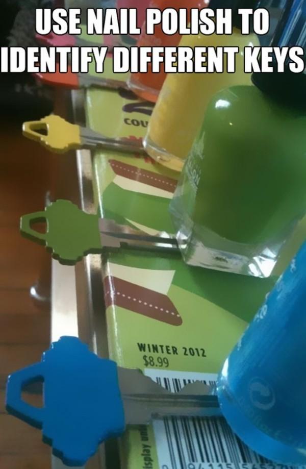 Colorer vos clés avec vos vernis à ongles