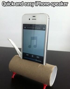 Voter pour Construire un haut-parleur iPhone avec un rouleau de PQ