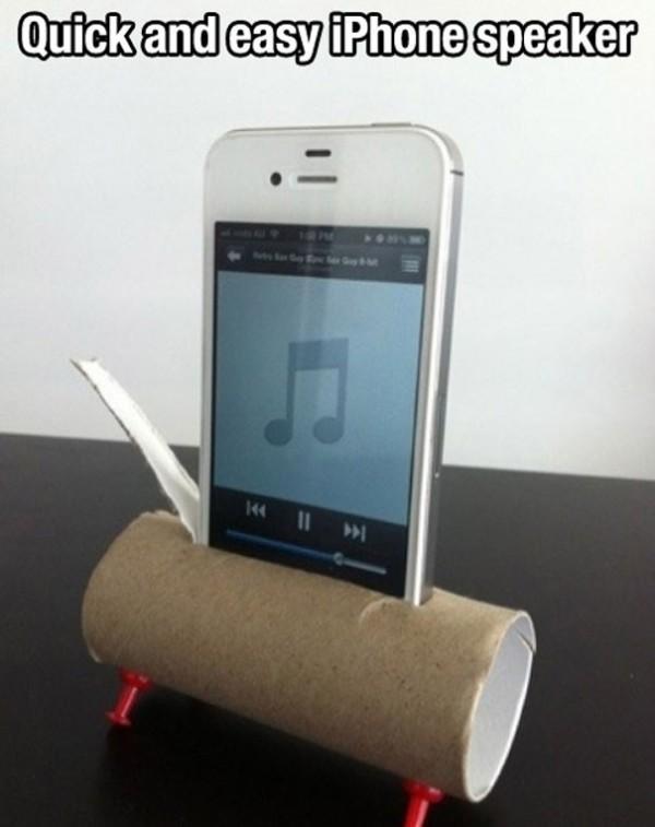 Construire un haut-parleur iPhone avec un rouleau de PQ