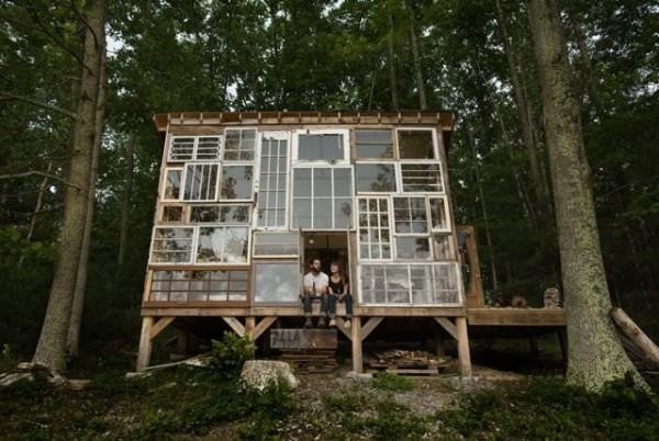 Une maison en récup de fenêtres, Virginie USA