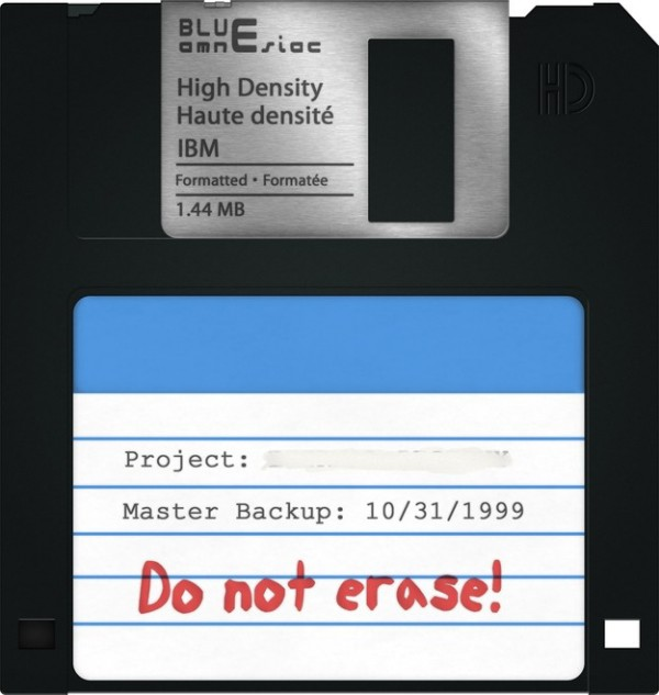 Sauver ses fichiers sur disquettes