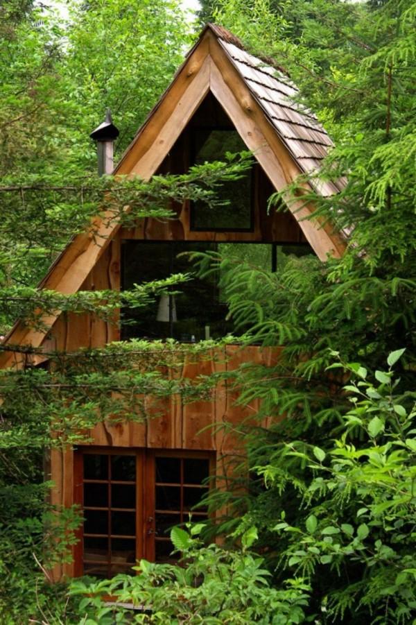 Une cabane de foret au Japon