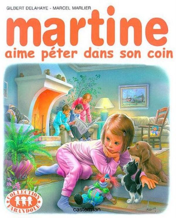 Martine aime pêter dans son coin