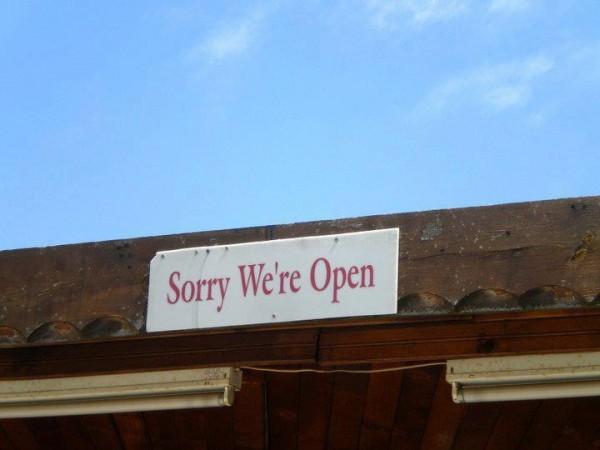 Désolé on est ouvert