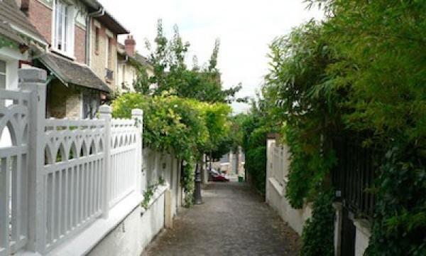 Repère de villas rue de Mouzaïa (19ème)