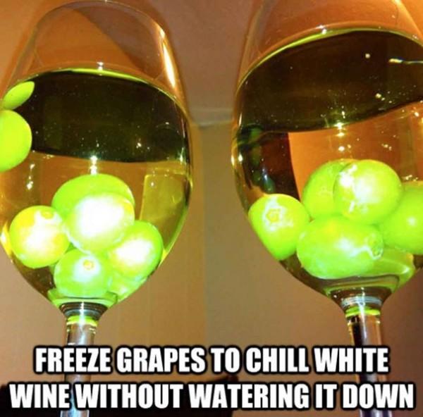 Surgeler des raisins pour en faire des glaçons à vin