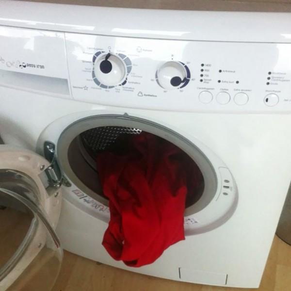 La machine à laver bourrée