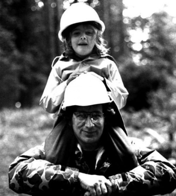 drew Barrymore With Spielberg