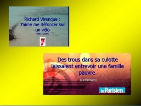Coquilles pour Télé 7 Jours et du Parisien