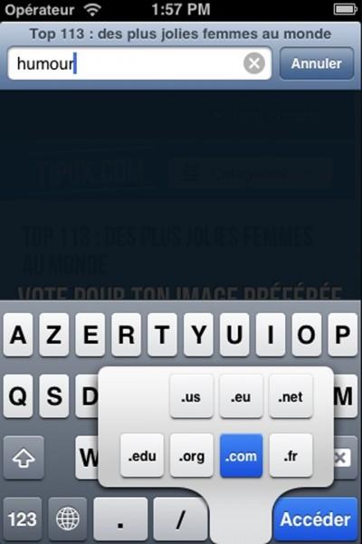 Taper rapidement .fr dans un lien Internet (navigateur)_