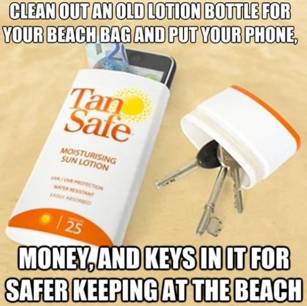 Cacher vos objets importants dans bouteille banale