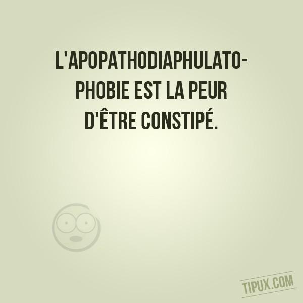L'apopathodiaphulatophobie est la peur d'être constipé.