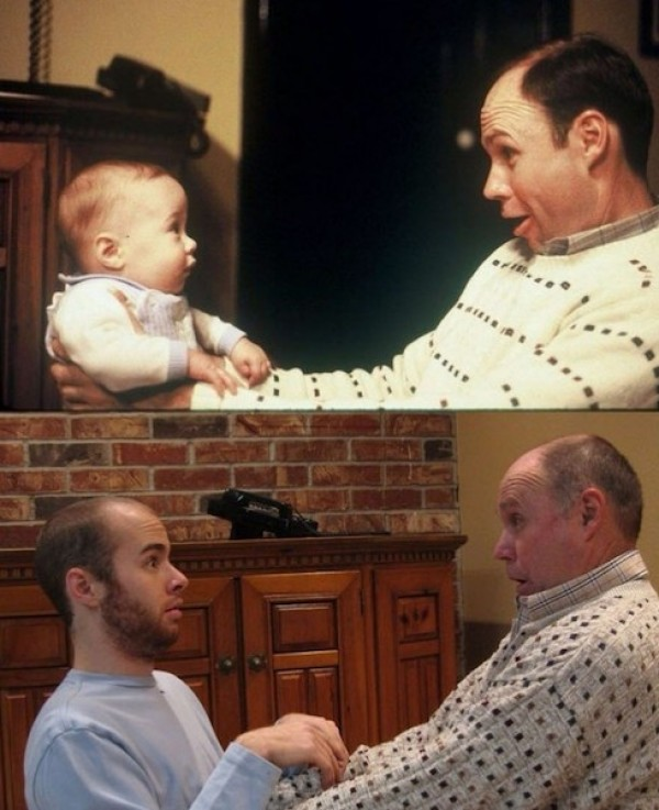 Père et fils surpris
